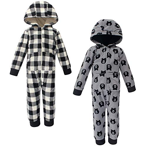 Yoga Sprout Unisex Baby Hooded Fleece Jumpsuits