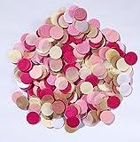 Since 600pieces 2 Inch Pastel Confetti for Wedding Table Decoration Party Favor Push Pop Confetti (Mint Cream Peach)