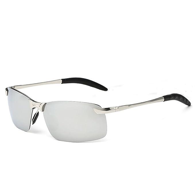 Gafas de sol hombre UV400 gafas de sol polarizadas gafas de sol deportivas de conducción al aire libre que monta el deporte de esquí pesca golf senderismo ...