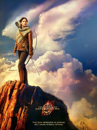 CATCHING FIRE KATNISS Limited Edition FABRIC Poster (Was part of Target Pre-order for BLU-RAY Combo Pack)