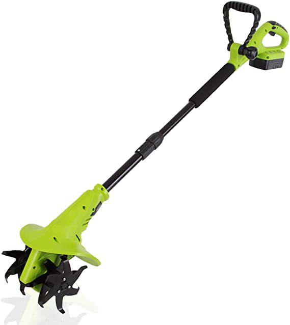 Amazon Com 18v Handheld Electric Cordless Tiller Battery Powered Hand Held Front Tine Soil Cultivator High Power Gardening Tool Cultivation Machine Perfect For Ground Garden Lawn Serenelife Psltll1854