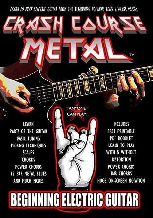 Amazon.com: Crash Course Metal Beginning Electric Guitar: Edward ...