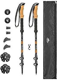 Cascade Mountain Tech Aluminum Adjustable Trekking Poles - Lightweight Quick Lock Walking Or Hiking Stick - 1