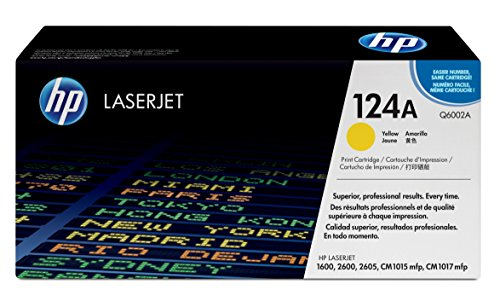 Hewlett Packard Color Laserjet 1600 - HP Color LaserJet Q6002A Yellow Toner Cartridge (Q6002A)