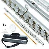 Bailando Silver Plated Flute, Offset G, B-Foot, Split E Mechanism, Closed Hole and Excellent Tremolo