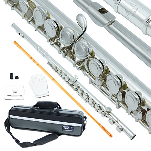 Bailando Silver Plated Flute, Offset G, B-Foot, Split E Mechanism, Closed Hole and Excellent Tremolo by Bailando