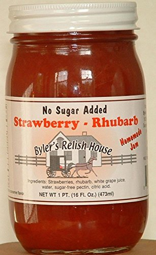 Byler's Homemade Amish Country No Sugar Added Strawberry Rhubarb Jam 16 oz.