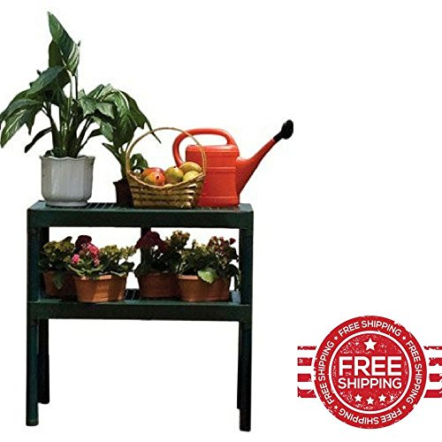 Outdoor Potting Bench Garden Plant Storage Gardening Table Shelves Furniture & E book By Easy2Find by STS SUPPLIES LTD