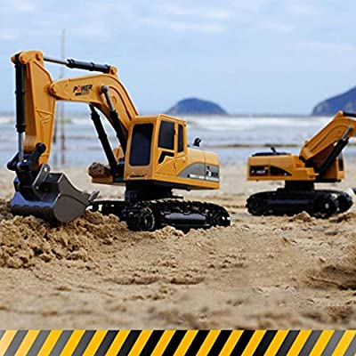 Garystan Remote Control Excavator Sound Simulation RC Truck Model Toy Toy RC Vehicles: Home & Kitchen