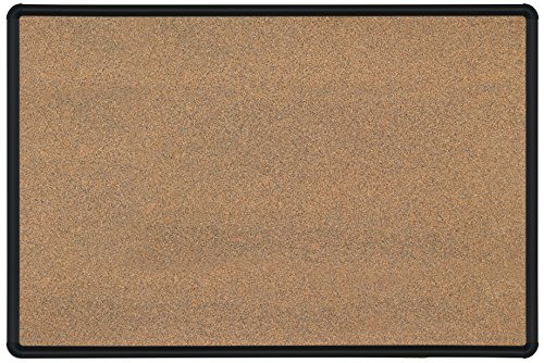 Best-Rite Green-Rite Splash Cork, Black, Presidential Trim, 2 x 3 Feet (Splash Cork Board)