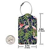 IEHFE MCNXB Flamingo and Tropical Plants Leather