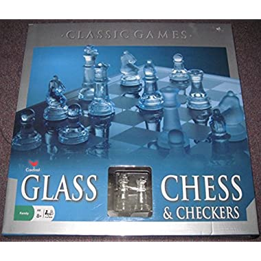 cardinal glass chess and checkers 14  board game