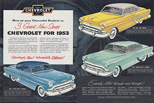 3 Great New Series Chevrolet Bel Air Two-Ten One-Fifty ad (Chevrolet One Fifty Series)