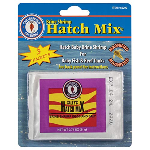 San Francisco Bay Brand Brine Shrimp Hatch Mix, 3 X 0.74-Ounce (21 Gram) Pouches