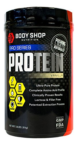 Body Shop Nutrition - Ultra Pure 100% Native Whey Pro Series Protein Powder - Cleanest Protein Available - Low Carb / Calorie - Vanilla - 2lbs