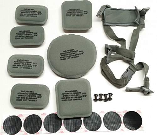 - USGI ACH MICH 4 Point Chin Strap Helmet Pads & Velcro Replacement Kit
