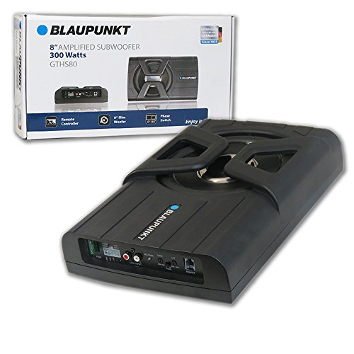 Blaupunkt Car Under Seat Super Slim Powered Subwoofer Enclosed 300 Watts