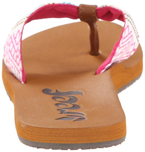 Reef REEF SCRUNCH TX - sandalias abiertas de material sintético mujer multicolor - Mehrfarbig (PINK MULTI / PIM)