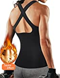 Cheap Women Yoga Tank Top Workout Quick Dry Running Shirts Fitness Sport Clothes Exercise Racerback Sports Training Vest (Sauna Tank Top, XXXL)