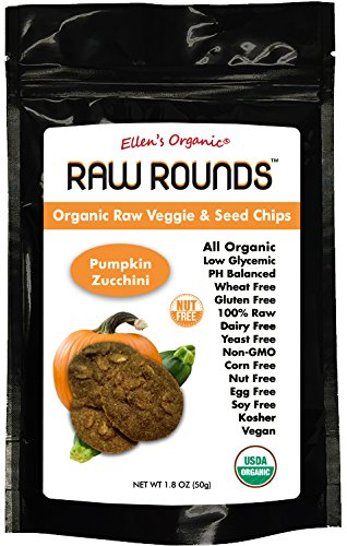 Raw Round Organic Raw Veggie & Seed Chips Superfood Snacks (Pumpkin Zucchini)