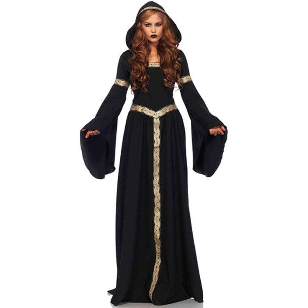 Yunfeng Hexenkostüm Damen Hexenkostüm Damen Halloween-Palast Prinzessin Kleid Hexe Rolle Spielen einheitliche Maskerade Kostüm