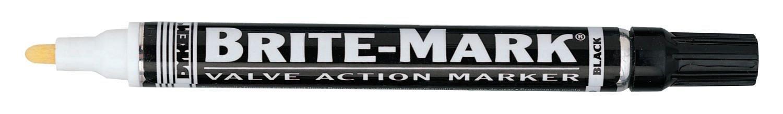 DYKEM BRITE-MARK Medium Markers, Black, Medium, Bullet (12 Pack)