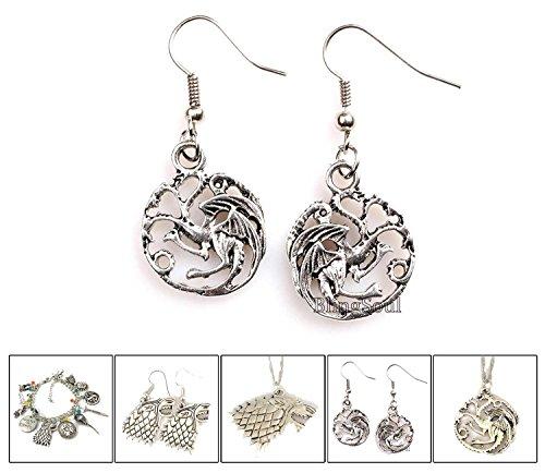 Game of Thrones House Daenerys Targaryen Earrings Costume Jewelry - Robert Baratheon Costume
