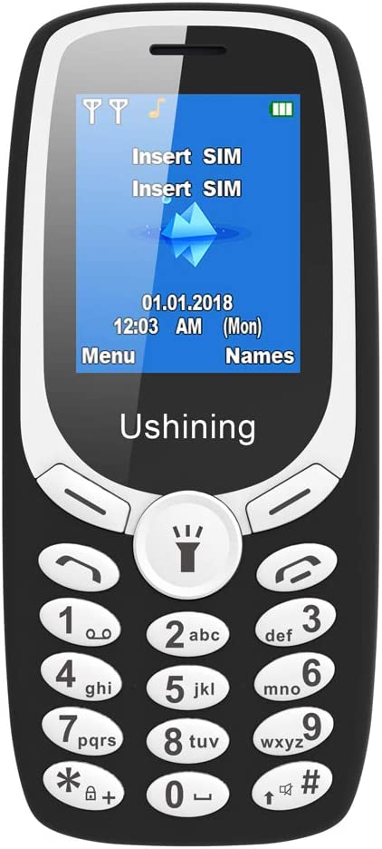 Ushining Unlocked Cell Phone,Long Standby time Basic GSM 2G Phones,T-Mobile Card Suitable (Black)