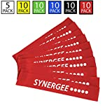 iheartsynergee 10 Pack Mini Band Resistance Loop Exercise Bands Red XX-Heavy Resistance Review
