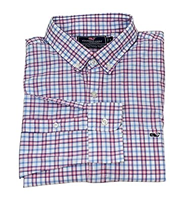 Vineyard Vines Men's Slim Fit Whale Shirt Button Down Dress Shirt