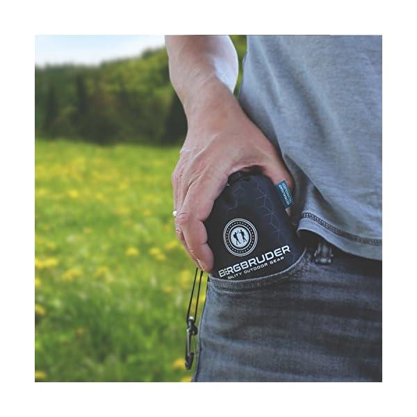 BERGBRUDER Nylon Picknickdecke im Hosentaschenformat - Wasserdicht, Ultraleicht & kompakt - Ground Sheet, Pocket Blanket…