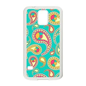 Canting_Good Paisley Floral pattern Custom Case Shell Cover for Samsung Galaxy S5 (Laser Technology)