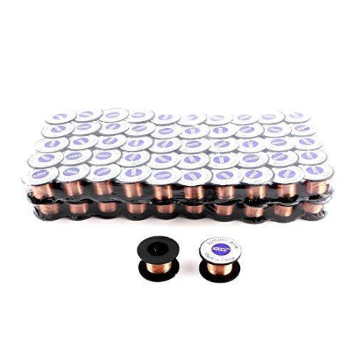 eDealMax 0.1mm Diameter Solder Soldering Repair Wire Reel 100pcs Copper Tone