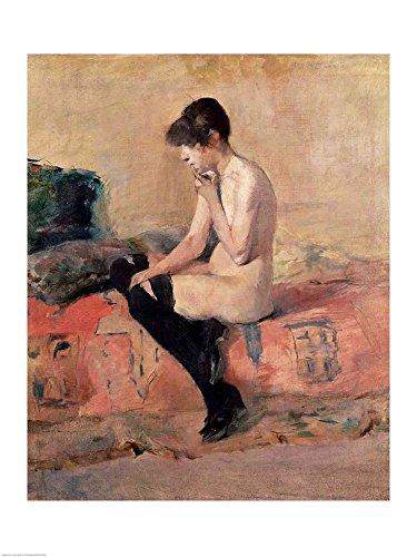 Nude Woman Seated on a Divan, 1881 by Henri de Toulouse-Lautrec Art Print, 21 x 28 inches