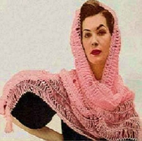 Crochet Pattern: GOLD COAST HAIRPIN LACE SHAWL - Downloadable vintage 1950's crochet pattern . Text-to-Speech enabled. Available for Download to Kindle ... crocheting, diy, clothing, clothes)