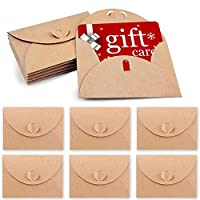 HansGo Gift Card Envelopes, 100PCS Cute Envelopes Small Gift Card Holders Mini Seed Envelopes with Heart Shaped Clasp