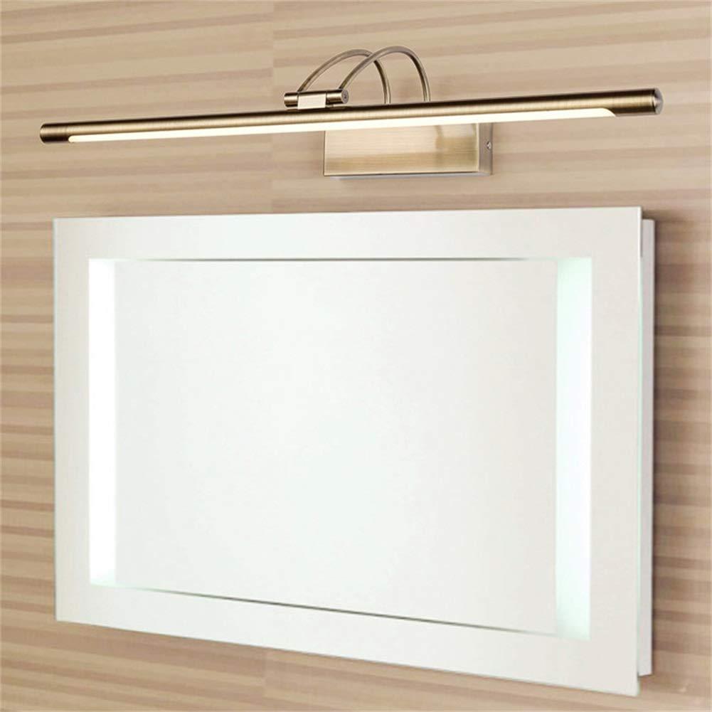 XFXDBT Led 16w Schminklicht Badleuchte Wandleuchten,trendiger Bilderleuchte Wasserdicht Ip44 180/° Drehbar Spiegelleuchte-k/ühles Wei/ß 75cm+16w