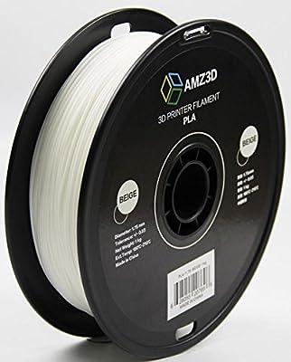 1.75mm Beige PLA 3D Printer Filament - 1kg Spool (2.2 lbs) - Dimensional Accuracy +/- 0.03mm