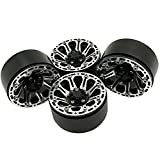 "RC-Hub Alloy Metal 1.9"" Beadlock Wheel Rims For 1/10 RC Crawler Car RC4WD SCX10 CC01 4Pcs"
