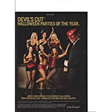 MAGAZINE ADVERTISEMENT For 2012 Jim Beam Devil's Cut:Sexy Party Scene