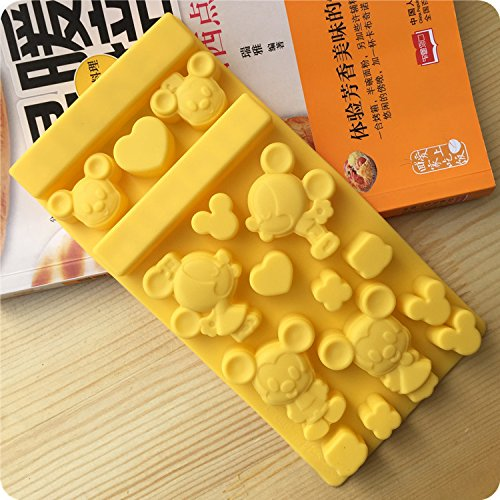 Everyday Better Life Silicone Mickey and Minnie Shaped Ice Tray Chocolate Molds