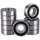 6203rs bearing - XiKe 10 Pack 6203-2RS Bearings 17x40x12mm, Stable Performance and Cost-Effective, Double Seal and Pre-Lubricated, Deep Groove Ball Bearings.