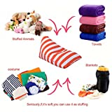 Home Storage Bag,KingWo Kids Stuffed Animal Plush Toy Storage Bean Bag Soft Pouch Stripe Fabric Chair (C)