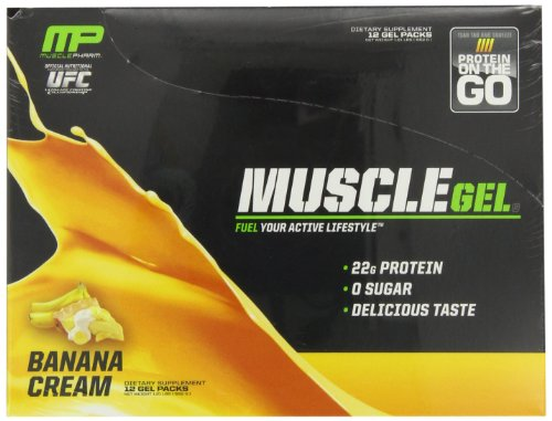 Muscle Pharm Muscle Gel Shot, Banana Cream, 12 Gel Packs
