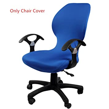 amazon co jp royal blue polyester roating chair cover 1 pcs