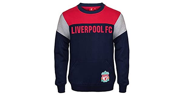 3449416d6 Amazon.com  Liverpool FC Official Soccer Gift Boys Crest Sweatshirt Top  Navy Blue  Clothing