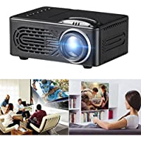 Gotd 600 Lumens HD 1080P LED Multimedia Projector Home Theater Cinema VGA HDMI USB SD, 123mmx86mmx56mm (Black)