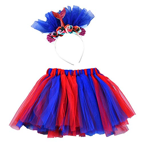 Keliay Bargain Girls Kids Tutu Party Dance Ballet Colours Costume Skirt+Floral Fishtail Set for $<!--$3.76-->