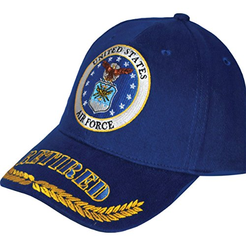 United States Air Force Retired Blue Hat Cap USAF ,Blue ,One - Service Cap Force Air