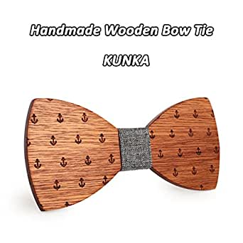 AJGTV Classic Captain Wood Bow Ties Corbata de madera Bowknots ...